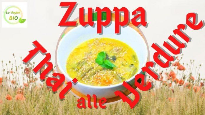 zuppa thai vegetariana